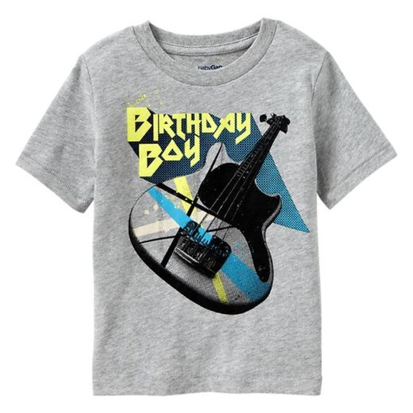 Baby Gap NWT HAPPY BIRTHDAY BOY Guitar Shirt